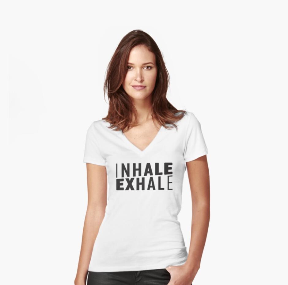 Inhale exhale yoga design