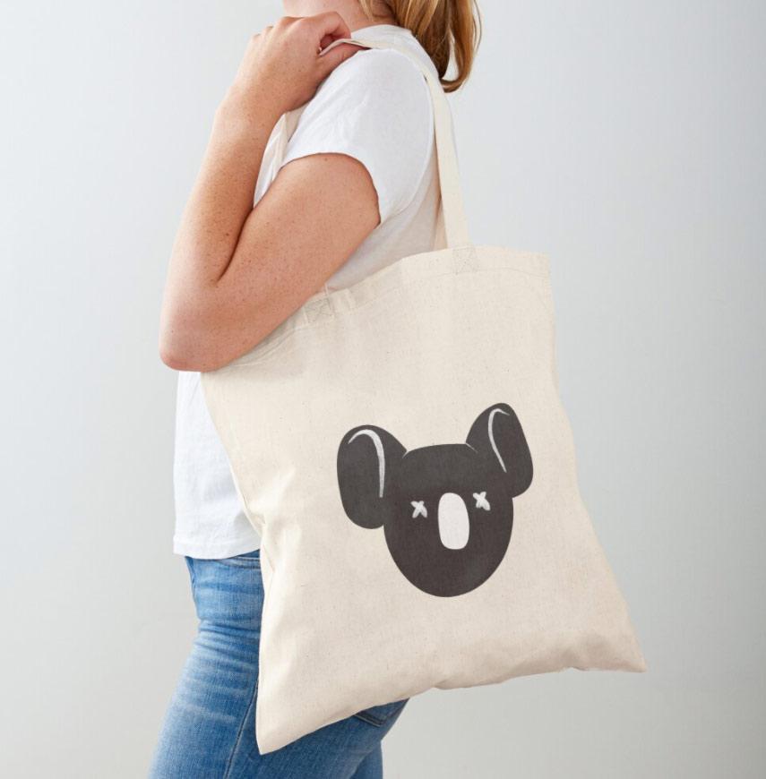 Koala Illustration tote bag