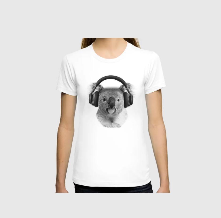 Koala + headphones